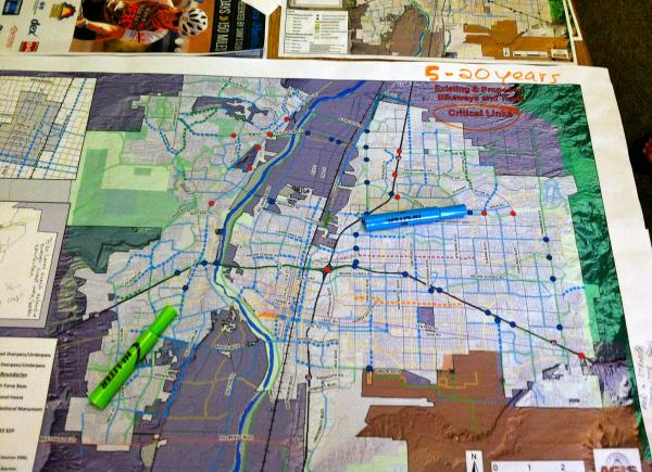 The City of Albuquerque has developed a master plan that would link disjointed trails and bike lanes.