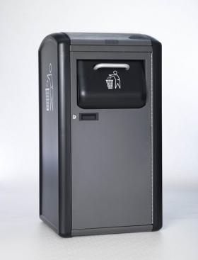 Solar-powered trash compactor. Photo from www.bigbellysolar.com.