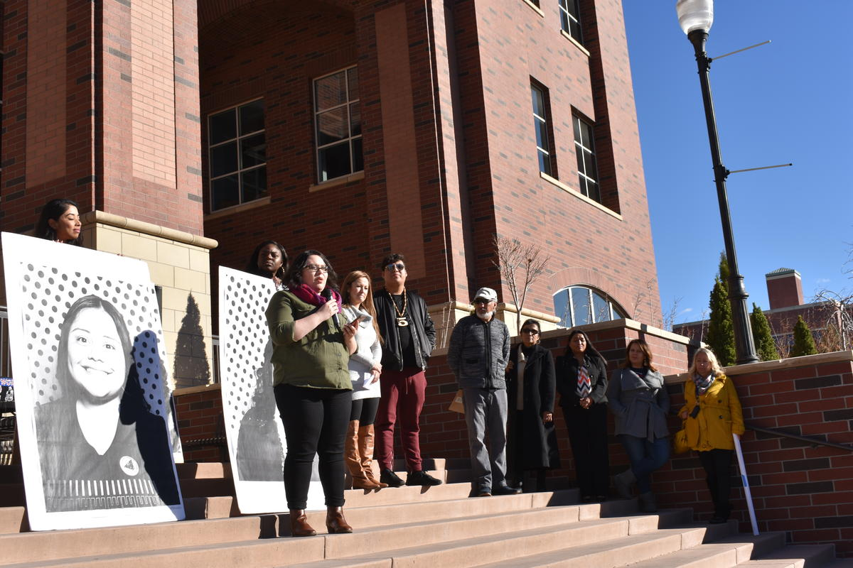 UNR's Social Service Coordinator Jahahi Mazariego speaks about her family's experience with deportation. CREDIT: Dalyn Cooke