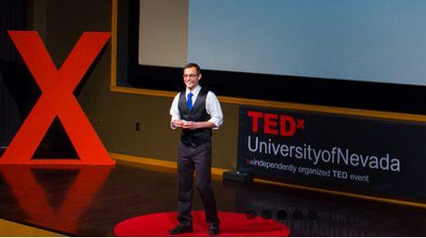 TEDx University of Nevada, Reno is an independently organized TED event. (Shown is Tim Grunert, presenter at a prior University TEDx session.)