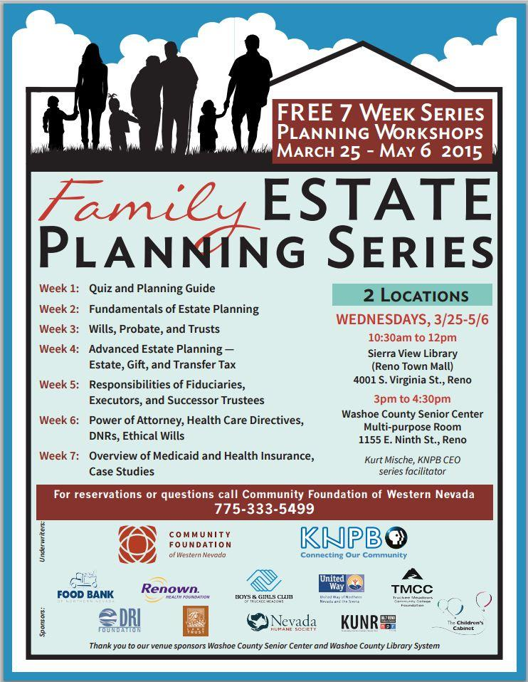 Estate Planning Series Flyer