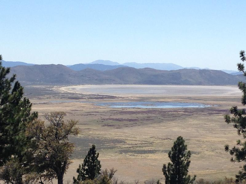 This is a view of Washoe Lake in the Washoe Valley from a vantage point near Davis Creek Park.