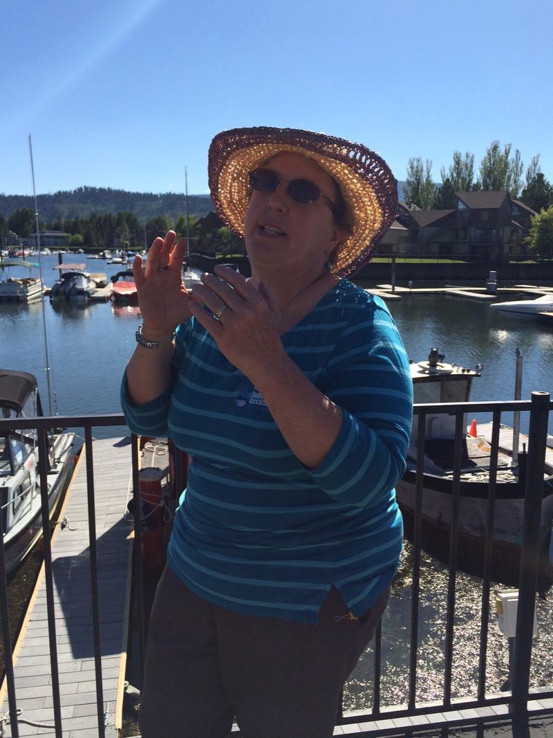 Madonna Dunbar shares her concerns over the Tahoe Keys weed management plan.