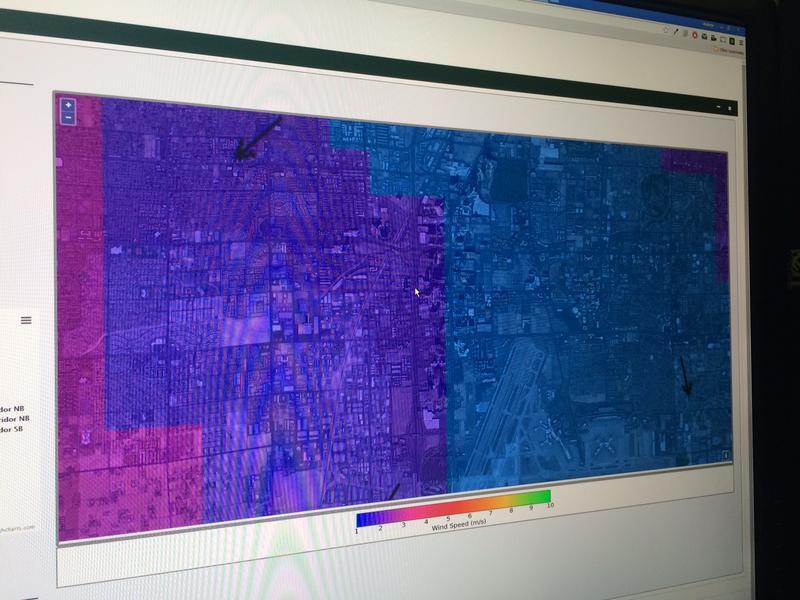 WINDS map of Las Vegas Blvd.