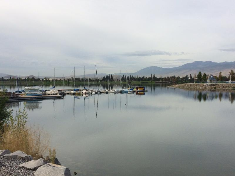 There are several water avtivies that take place on the Sparks Marina, including paddle and sail boating.