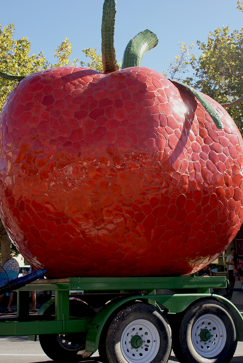 No Italian festival is complete without a giant tomato sculture!