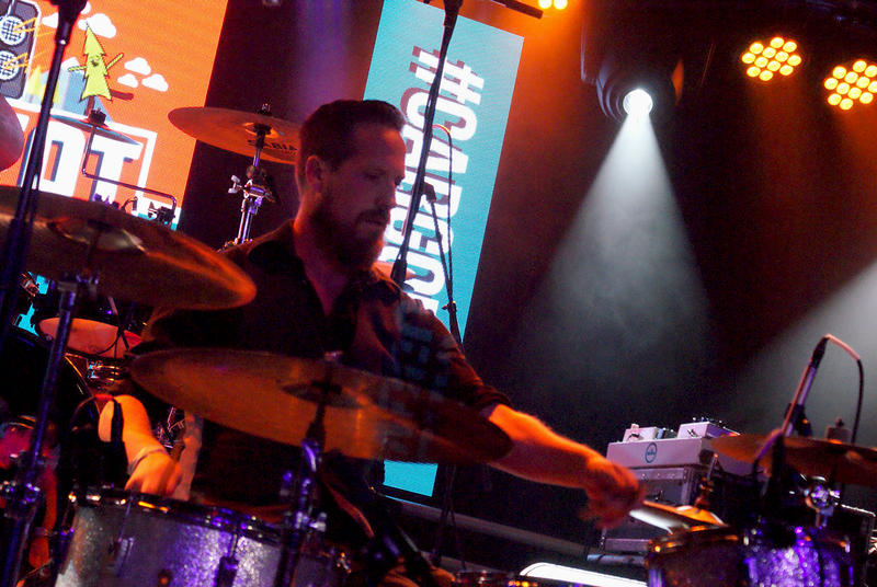 El Radio Fantastique's drummer performing at Cargo. 6 Nov. 2015.