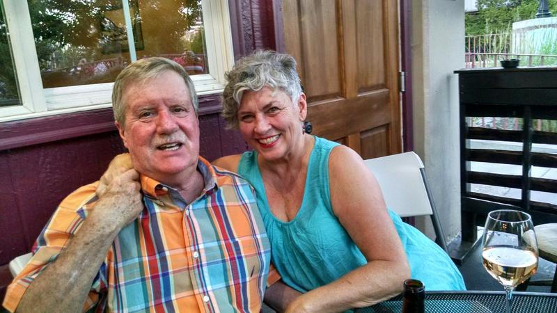 Duncan Stewart with bride Cheryl