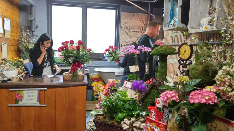 Botanical Flower Bar is one of the many shops located inside The Basement.