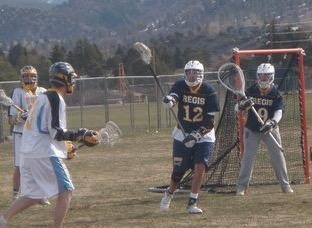 Dave playing Lacrosse at Regis University in Colorado.