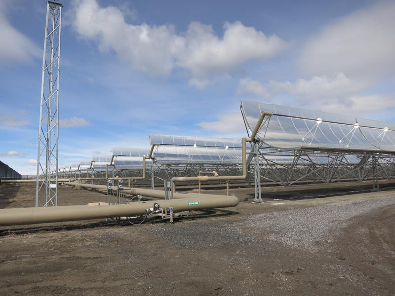 A view of the Stillwater Hybrid Plant's solar thermal energy operation.