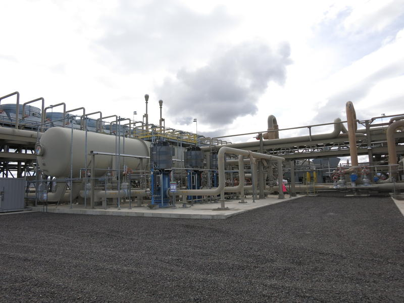A view of the Stillwater Hybrid Plant's geothermal energy operation.