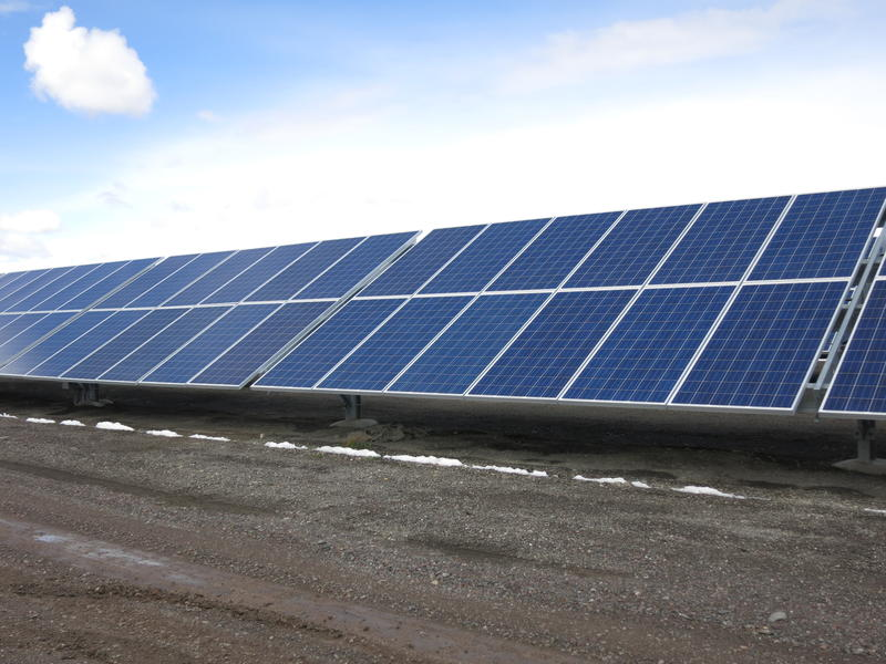 A view of the Stillwater Hybrid Plant's solar photovoltaic energy operation.