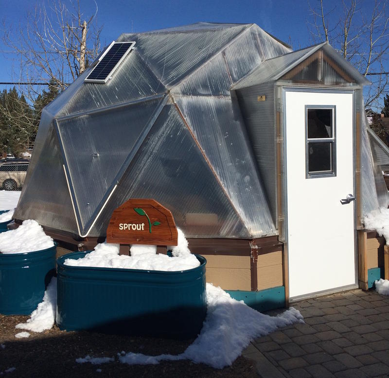 One of two Sierra Growing Domes at Sierra House Elementary in South Lake Tahoe