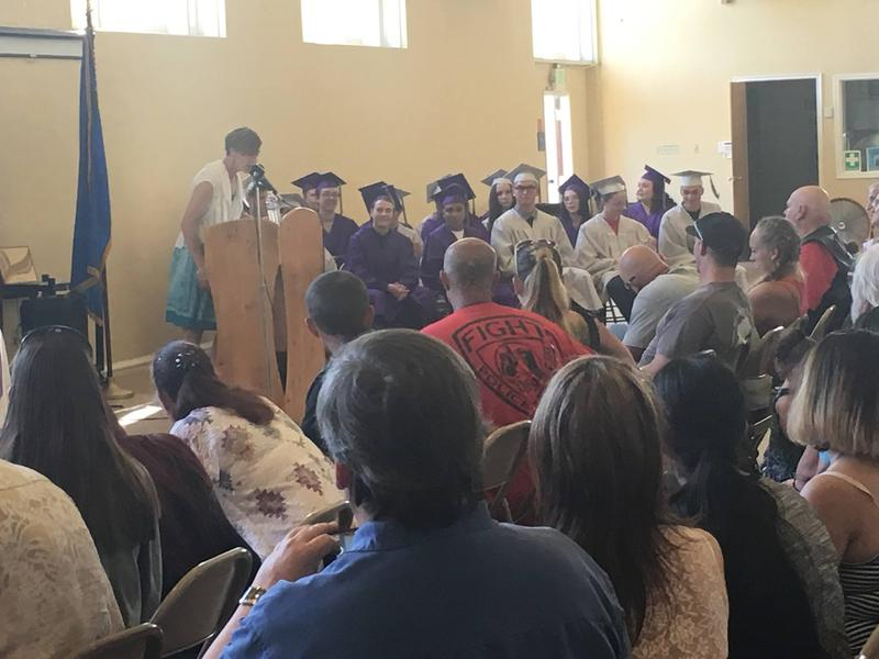 Rainshadow Community Charter High School's graduation ceremony on Friday, June 3.