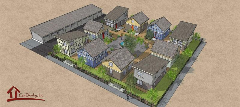 Rendering of the Tiny Ten housing community.