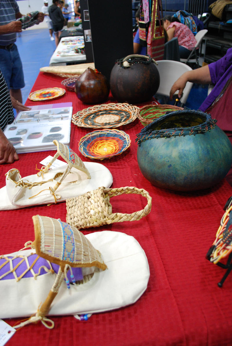 Some of the work created by members of the Great Basin Native Basketweavers Association