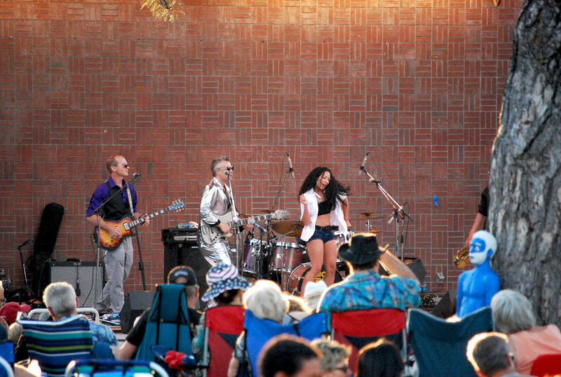 Funk and soul band Mojo Green performs in Wingfield Park.