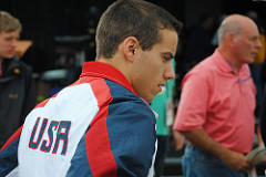 Dalton prepares for an event at the 2012 Olympics in London.