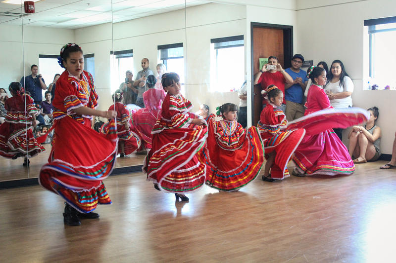 Local Folklórico instructor Sarah Perez doesn't have an age limit, she teaches children as young as three years old to adults.