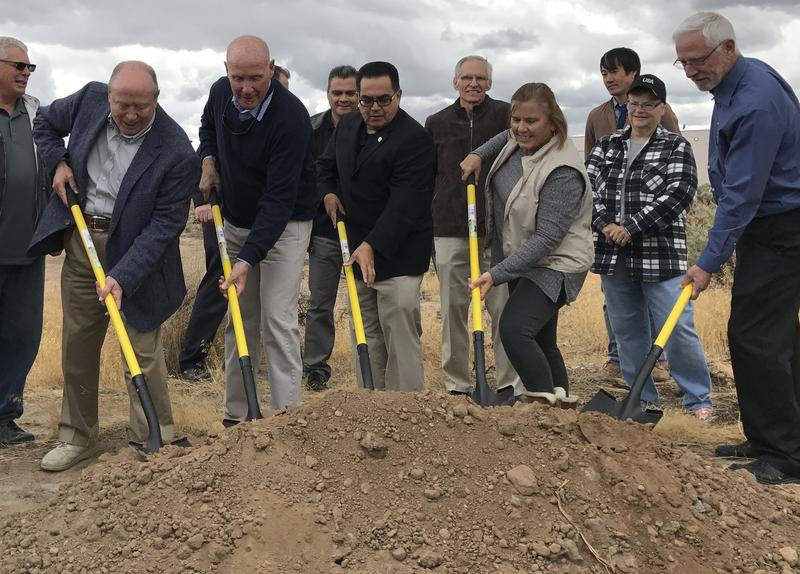 Local officials and community members officially break ground on a new affordable housing development in Dayton, called Gold Canyon Estates.