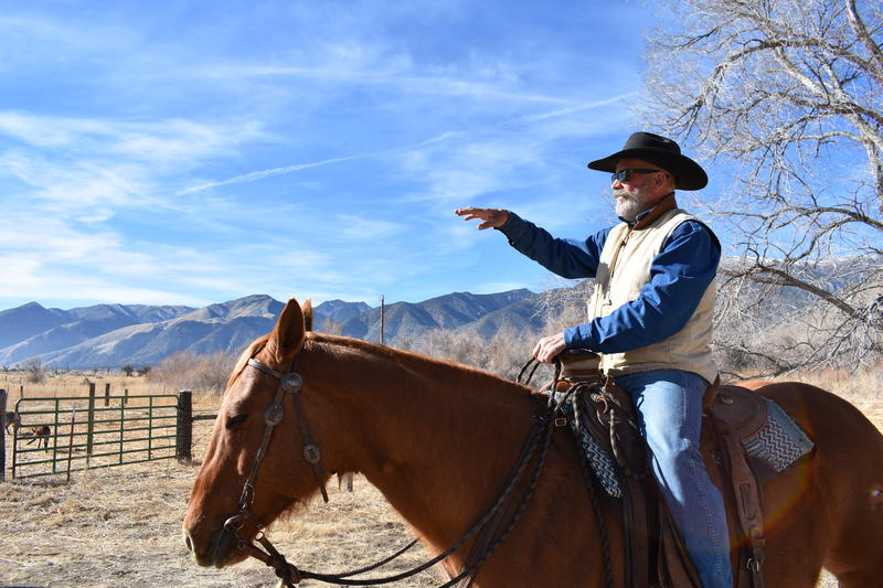 Denton Cook overlooks Hunywill Ranch in Smith Valley, Nev.