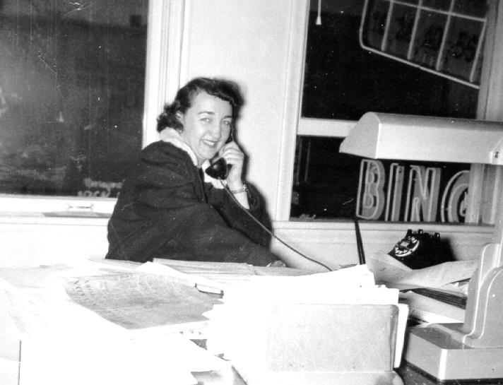 Charlotte Hunter Arley in an office on Reno's Center Street, above what used to be the Bonanza Casino.