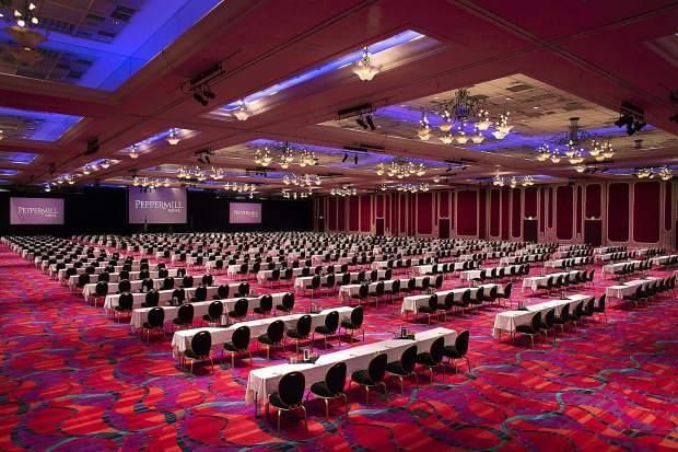 A large ballroom