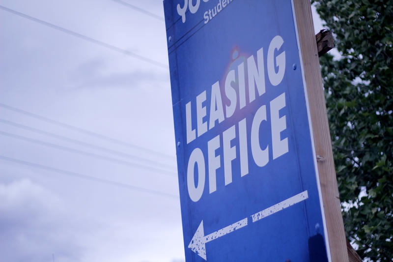 A leasing sign near UNR