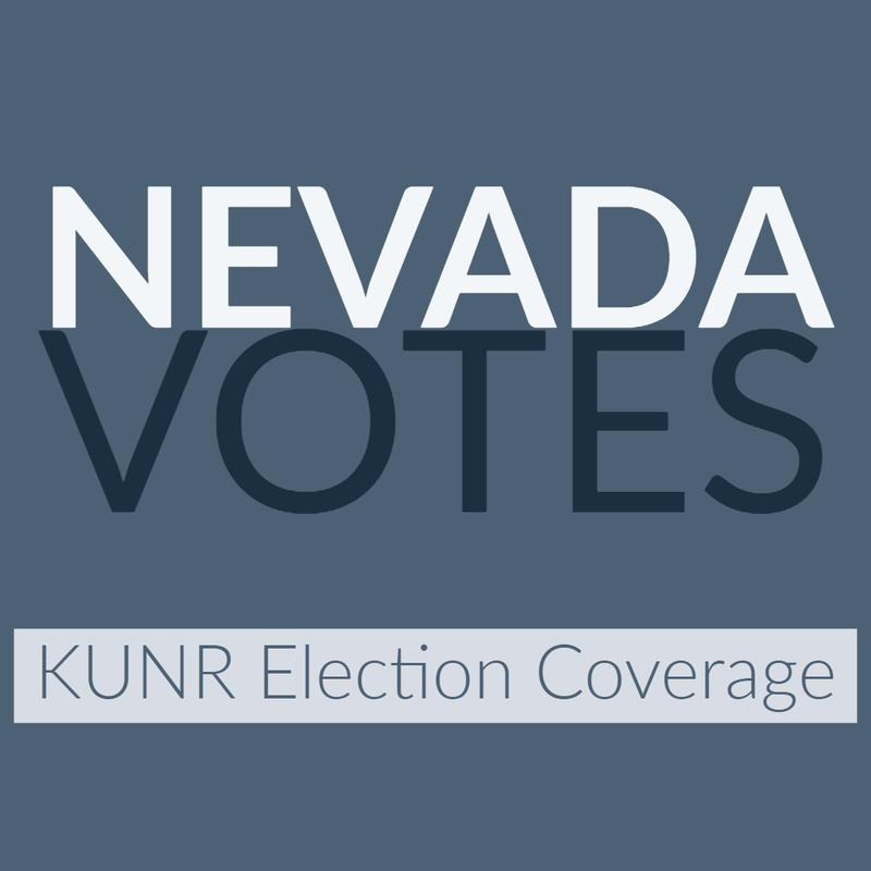 "Graphic reads ""Nevada Votes: KUNR Election Coverage"""