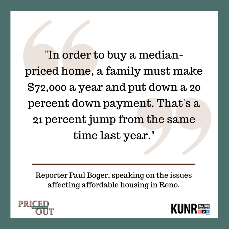"Image quote reading: ""In order to buy a median-priced home, a family must make $72,000 a year and put down a 20 percent down payment. That's a 21 percent jump from the same time last year."""