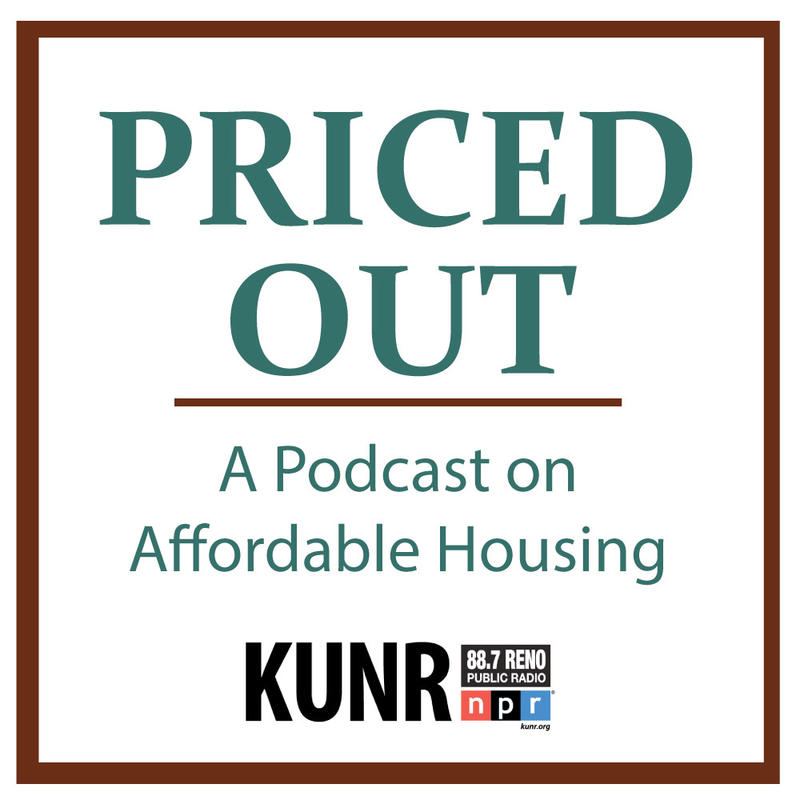 "Graphic reads "" Priced Out- A Podcast on Affordable Housing"""