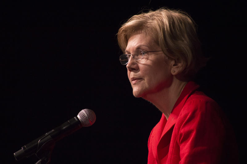 Sen. Elizabeth Warren (D-Mass.) speaks at an event