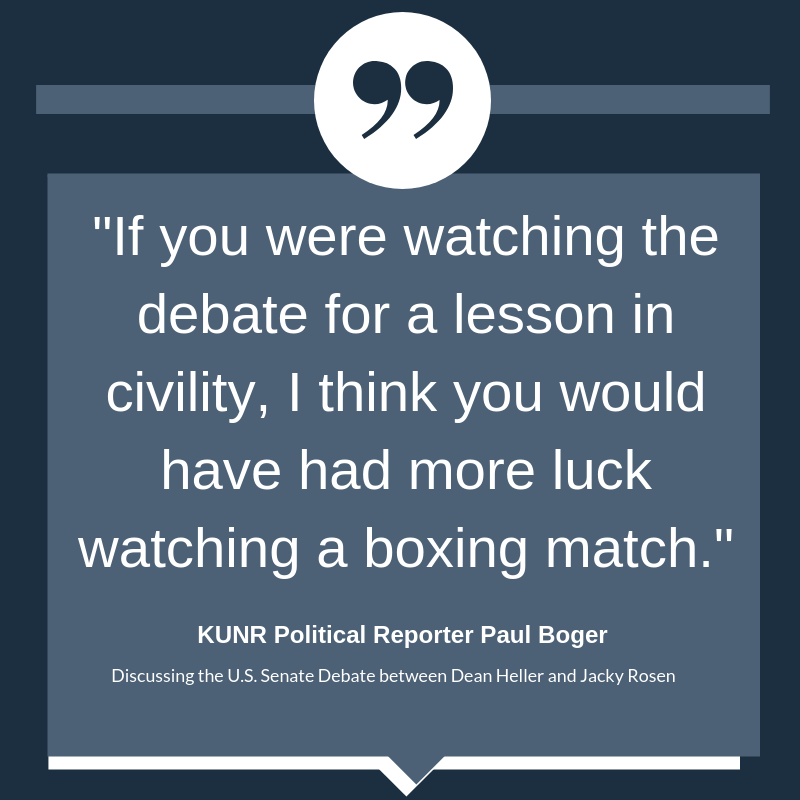 """Quote:""""If you were watching the debate for a lesson in civility, I think you would have had more luck watching a boxing match."""""""