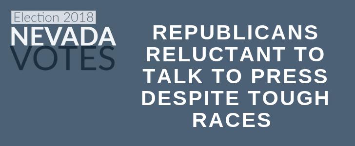 Republicans Reluctant To Talk To Press Despite Tough Races