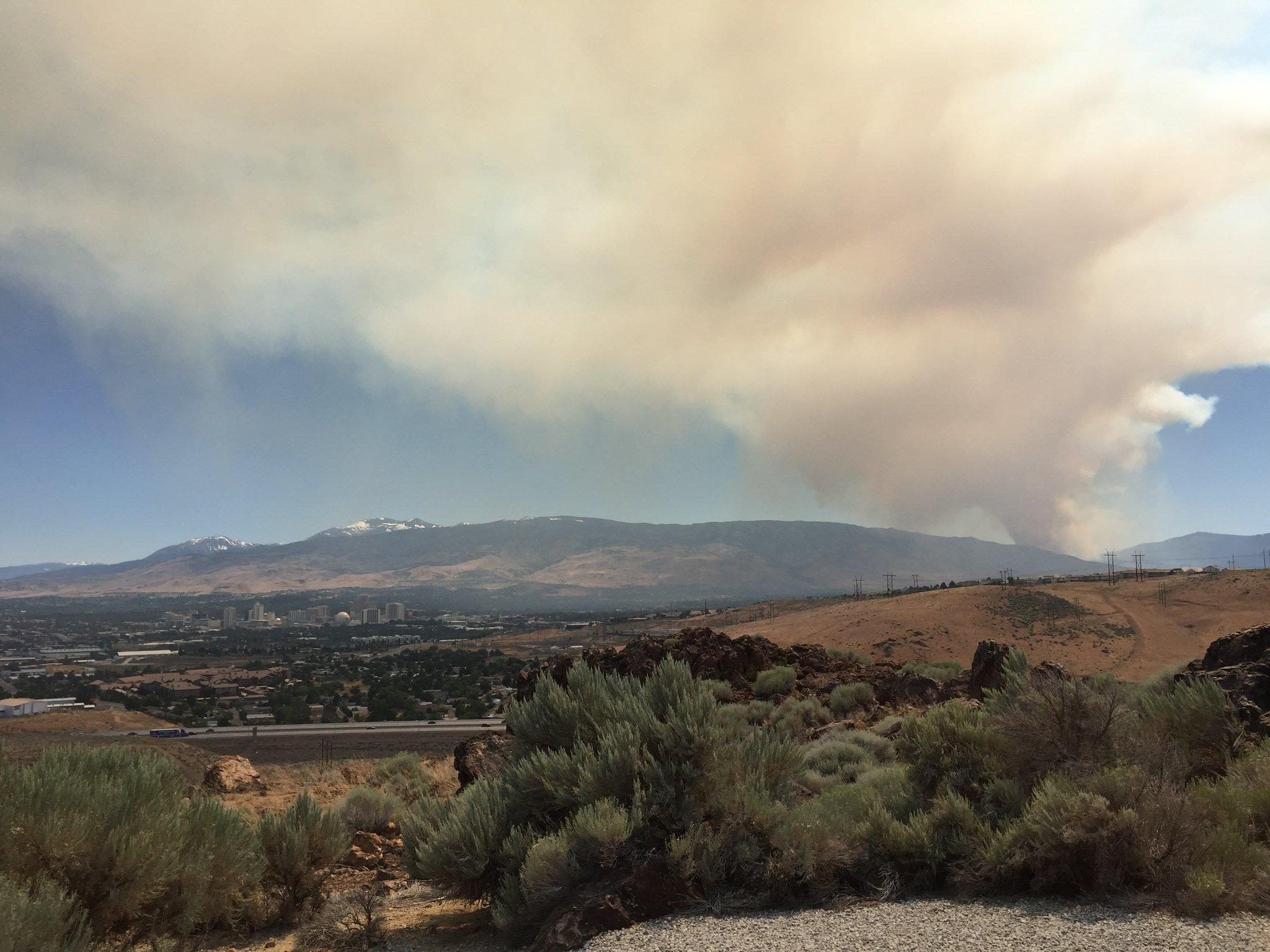 Wildfire Shuts Down Highway 80 Near Truckee