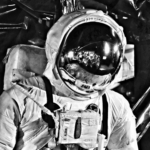 getting into his buzz aldrin space suit - photo #6