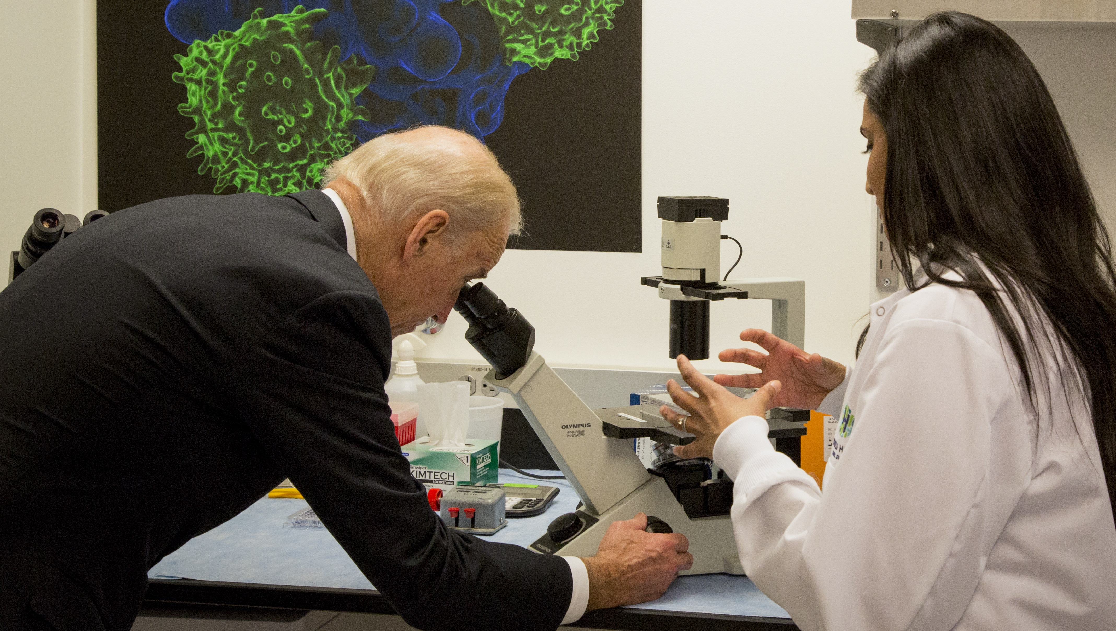 Biden Visits Seattle To Move Cancer Research Forward