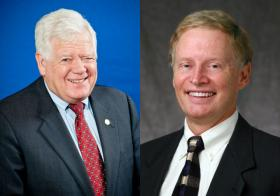 US Rep. Jim McDermott (left) and challenger Ron Bemis.