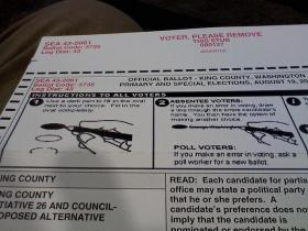King County Primary Ballot