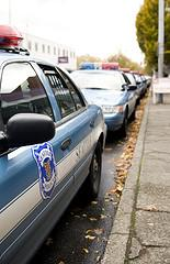 Seattle police patrol cars.