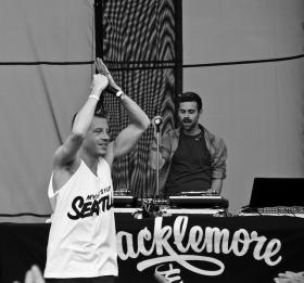 Macklemore (left) and Ryan Lewis at Sasquatch music festival, 2011.