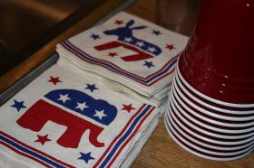 election party napkins