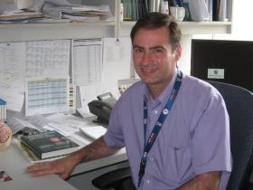 Pediatric neurologist Dr. Raymond Ferri in his office at Seattle Children's Hospital.