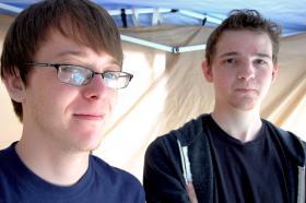 Dorian Hinkle and Jordan Howard