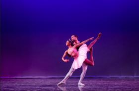Ballet dancer Richard Peacock lifts Deepa Liegel as the Sugar Plum Fairy in the Cornish Junior Dance Company's 2012 production of the 'Nutcracker.' 