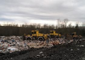 Cedar Hills landfill trash compactors