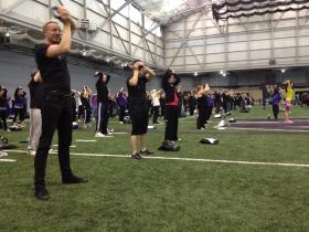 Many at the UW kettlebell class were new to kettlebell, but that didn't stop them from participating in an attempt to break the Guiness World Record for the largest kettlebell workout.