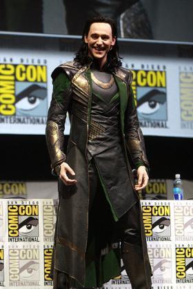 Tom Hiddleston as Loki at the 2013 San Diego Comic-Con.