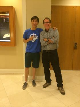 E-sport champion Yiliang Peng with KUOW's Ross Reynolds.